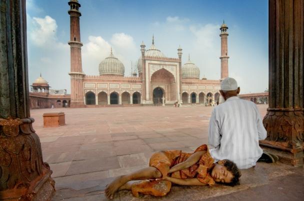 Jama Mayid, la moschea del venerdì di Delhi.